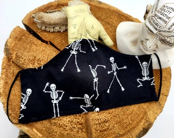 Dancing Skeleton Face Covering