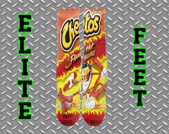 1c3feb3b6cf FLAMING HOT CHEETOS Custom Elite Feet Socks