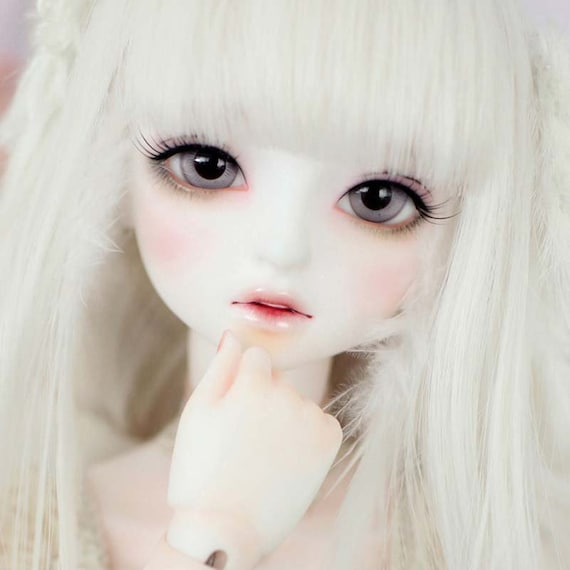 1//8 BJD SD Doll Cute Little Girl Bare Doll Free Random Eyes without Any Makeup