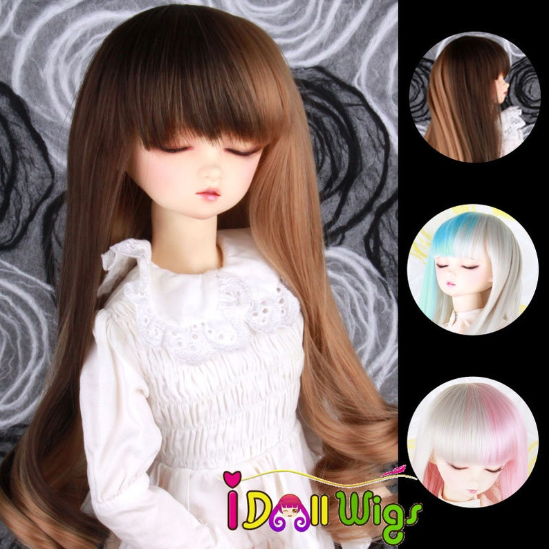 13 14 16 Bjd SD Wig High Temperature Long Spiral Curly Layer BJD Super Dollfile Hair Wig Accessories Colourful Syle on Sale