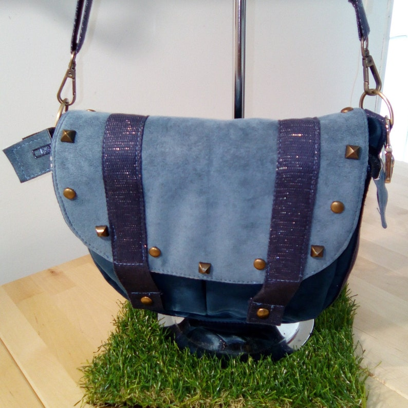 Alcantara studded bag image 0