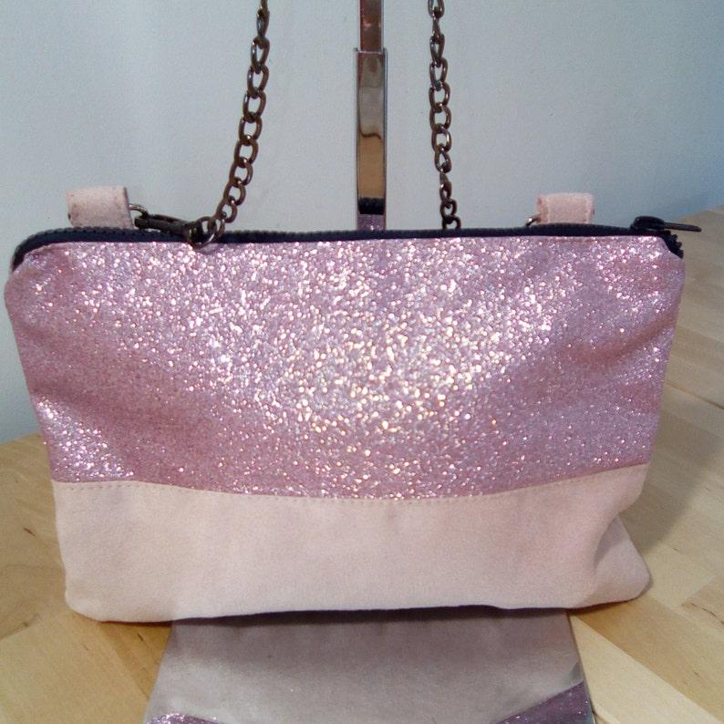 Glittery pink clutch image 0