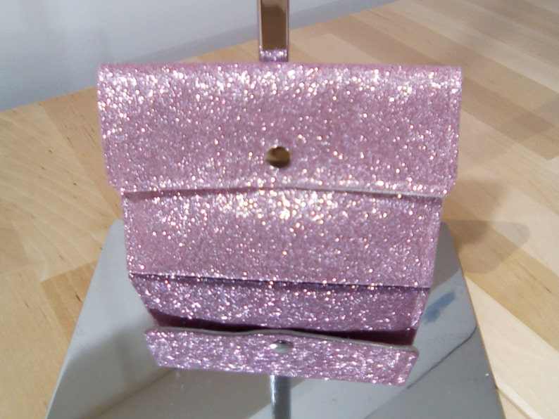 Pink sequined coin purse image 0