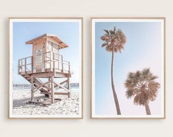 Lifeguard tower print, INSTANT DOWNLOAD, Printable beach art, California wall art, Beach decor, Ocean print, Beach print, Lifeguard stand