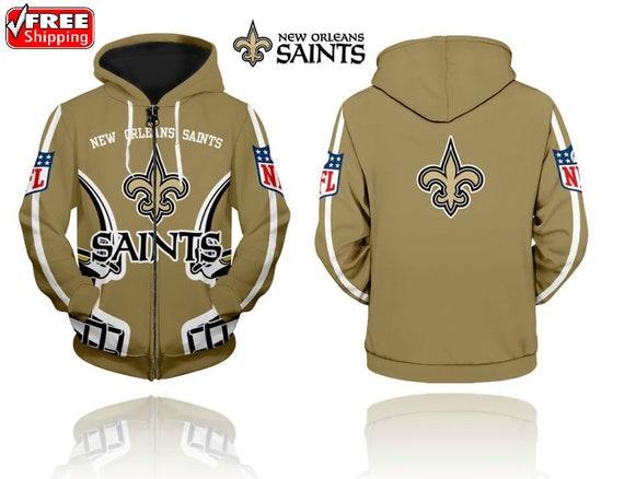 2019 New Orleans Saints Nfl Zip Up Hoodie Sweatshirt