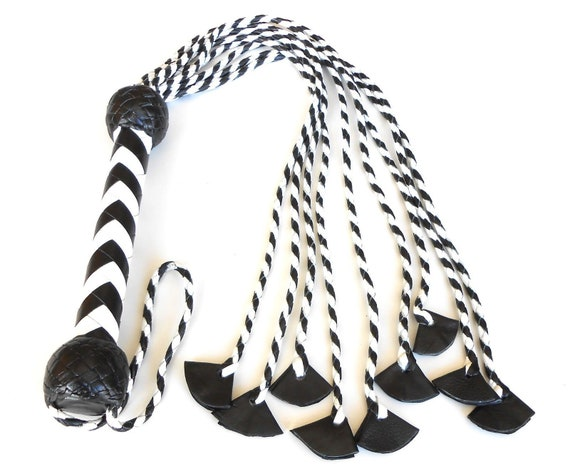 Flogger Whip. Cat O Six Tails Quality Hand made Genuine Leather Flogger// Whip