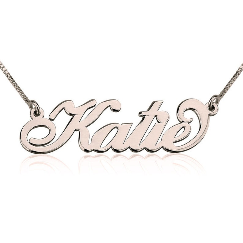 Personalized Carrie Name Necklace 24k Gold Plating Carrie Style Necklace Custom Name Necklace Sterling Silver Name Necklace