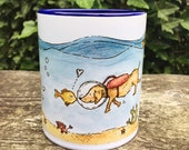 Cup of sea creatures