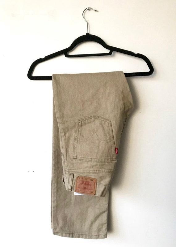Beige Levi's Jeans 29 - Unisex