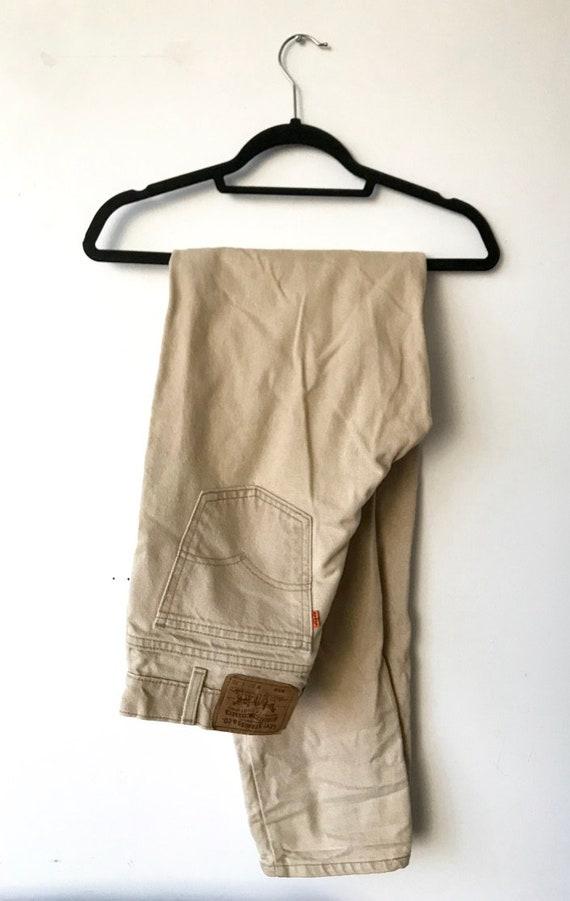 Beige Levi's Jeans 550 32x36 - Unisex