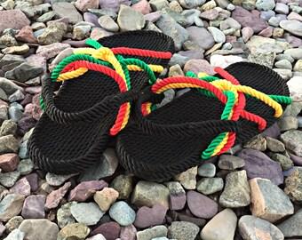 d5aee3c37e15 Rasta Rope Sandals for Men