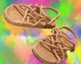b37e6148458b Hippie Rope Sandals for Women