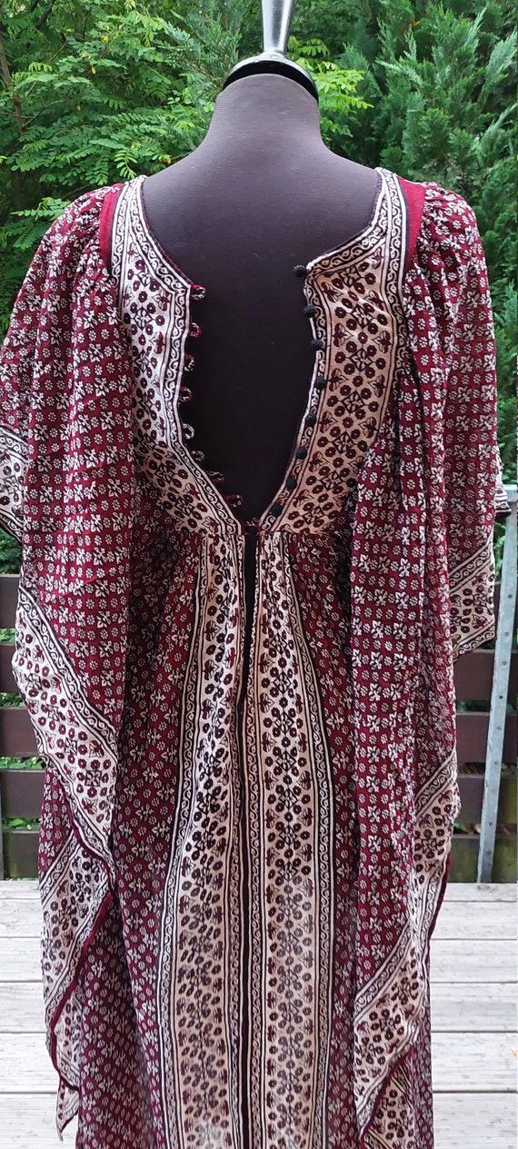 Stunning vintage 70s Indian gauze dress Vintage 1… - image 7
