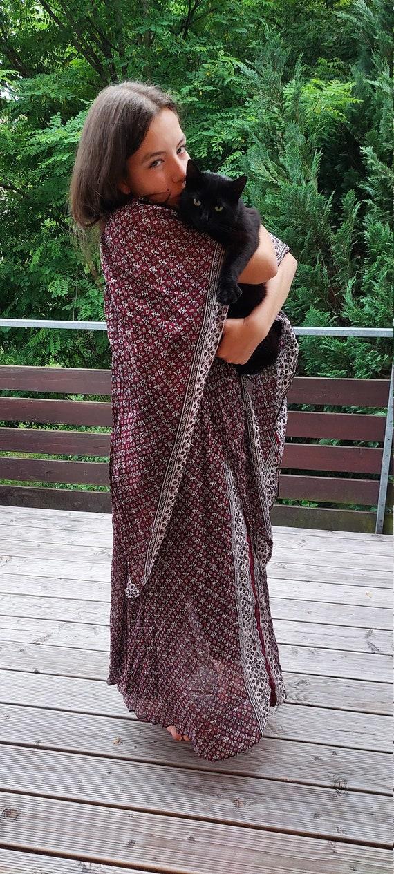 Stunning vintage 70s Indian gauze dress Vintage 1… - image 2