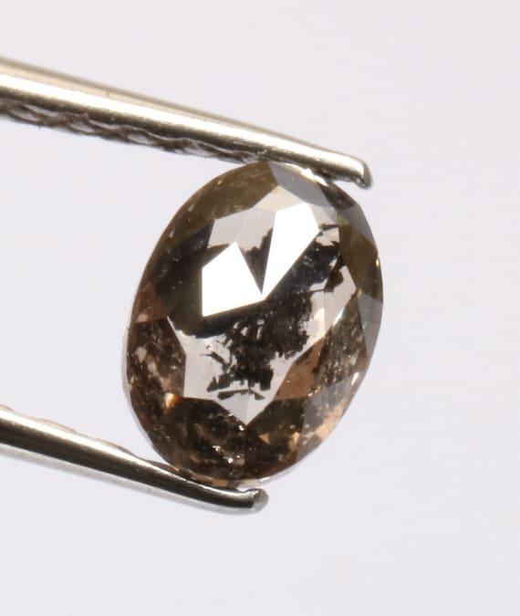 0,57 0,57 0,57 ct 5,8 X 4,2 mm naturel lâche sel et poivre noir couleur ovale diamant D33 1a50bd