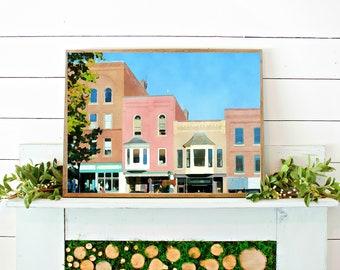 CAMDEN MAINE PRINT // watercolor print // printable wall art // digital download // maine watercolor // art print // maine town photo
