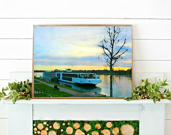 VIKING CRUISE PRINT // watercolor print // printable wall art // digital download // viking cruise watercolor // art print // cruise photo