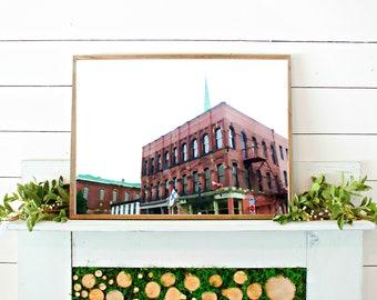 SAINT JOHNS PRINT // watercolor print // printable wall art // digital download // canada watercolor // art print // canada building photo