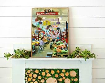 STJOHNS MARKET PRINT // watercolor print // printable wall art // digital download // canada watercolor // art print // canada market photo