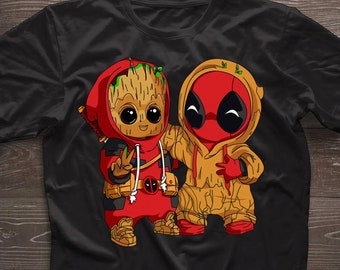 7f80ef46 Deadpool I am Groot Crossover Guardians of Galaxy Tee deadpool and groot t- shirt, funny pikagroot shirt ,perfect gift for fans lovers ,froot