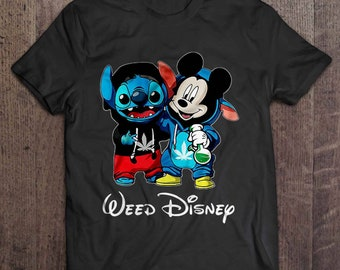 f1eb03fd348 Weed Disney Stitch And Mickey Mouse Smoke Weed