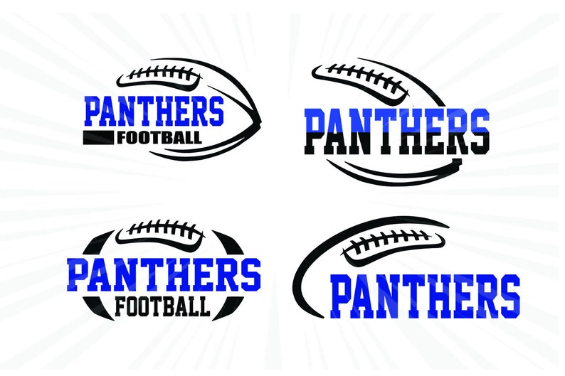 Panthers Football SVG bundle Pack laces Svg Dxf Eps Cricut cut file silhouette cameo Vector logo Vinyl cutting file Digital Panthers svg