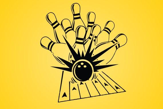 Bowling Svg Dxf Eps Logo Vector Clip Art Cricut Cut Cutting Etsy