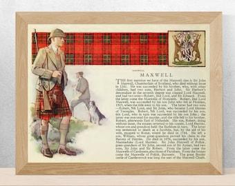 Vintage Woollen Tartan Kilt Maxwell