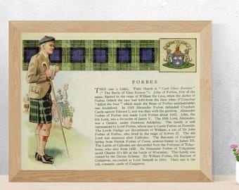 Clan Forbes Vintage Poster