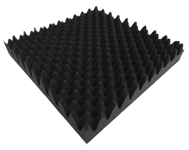 2 Pack 48 x 72 x 2.5 Inch Acoustic Egg Crate Foam Panel for Wall Soundproofing