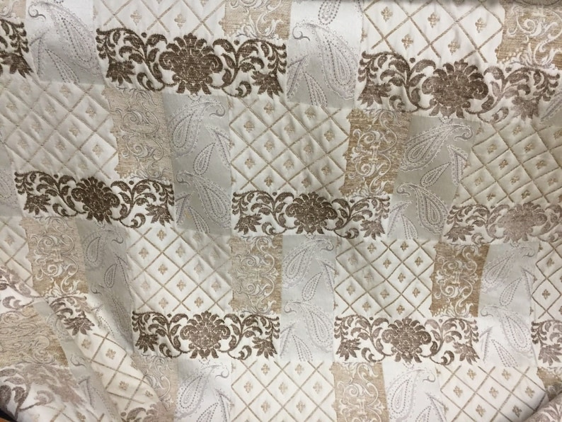 Chenille Upholstery Drapery Geometric Jacquard Home Decorating Fabric By Yard