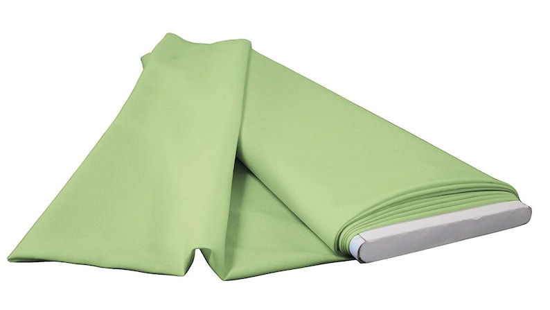 10 yd Polyester Poplin Flat Fold Fabric Sage