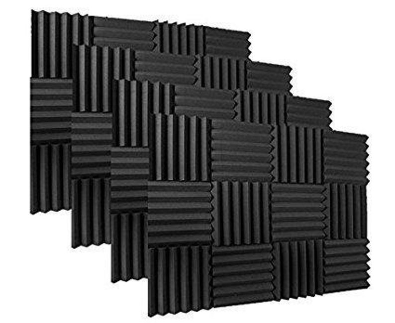Top Quality Charcoal 2x12x12 Soundproofing Acoustic Studio Foam Wedge Style Panels Tiles 48 Pk Ideal for Home /& Studio Absorption