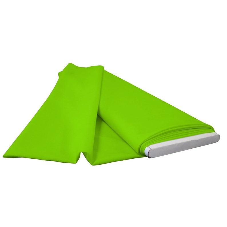 Polyester Poplin Flat Fold Fabric 10 yd Lime