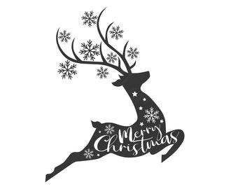Christmas Deer Svg Etsy