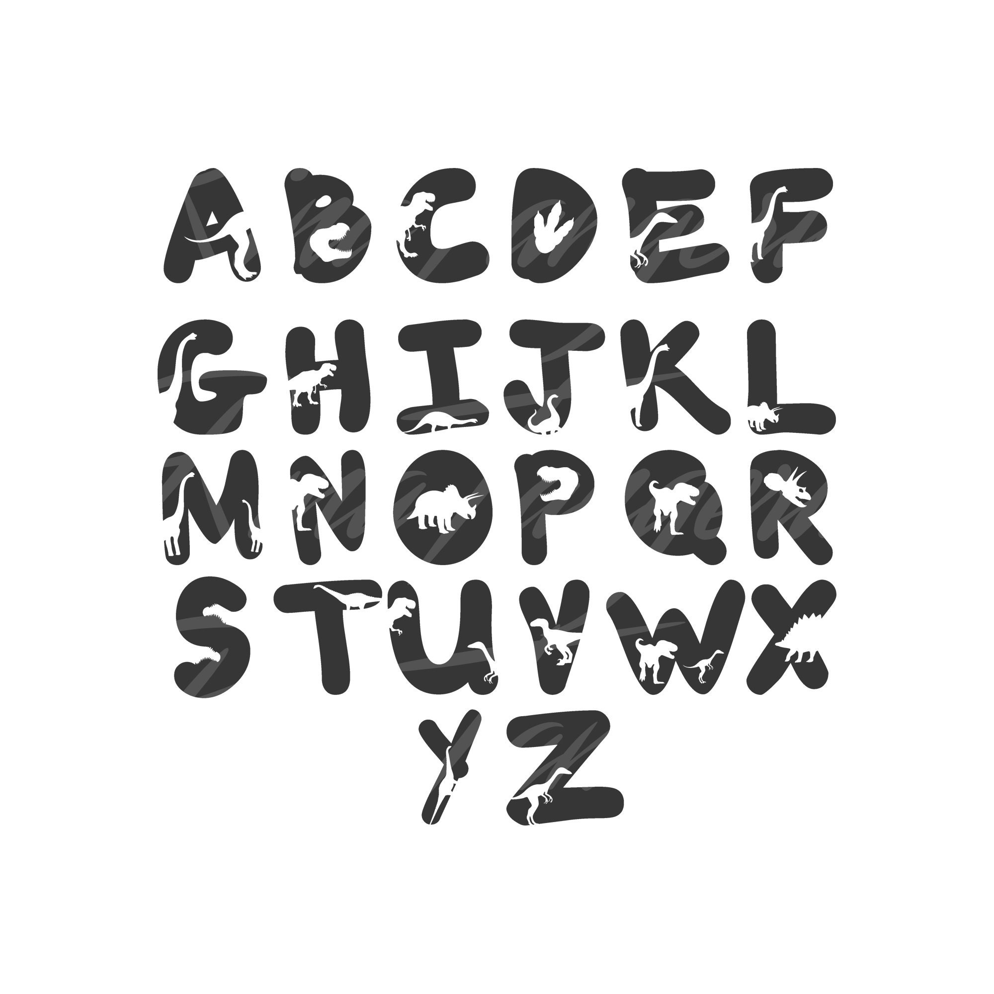 Download Dinosaur font svg png dxf Cutting files Cricut Cute svg   Etsy