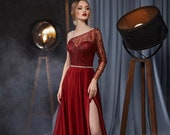Ready To Ship Size 10 Burgundy Dress Bohemian Dress Corset Dress Evening Gown Formal Dress Prom Dress Long Boho Maxi Dress Long Sleeve Dress