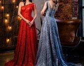 Blue Maxi Dress Red Dress Prom Dress Long Cocktail Dress Evening Gown Bohemian Dress Corset Dress Formal Dress Goddess Dress One Shoulder