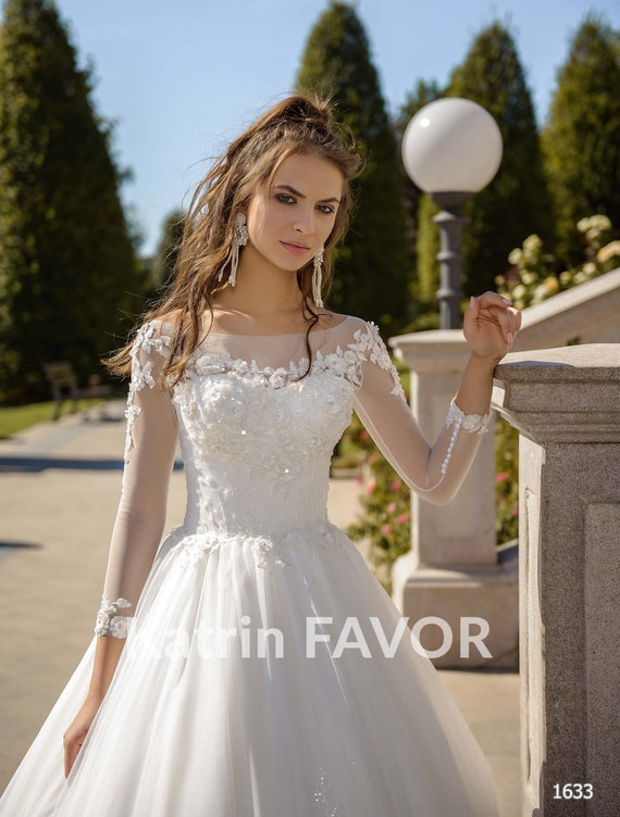 Long Sleeve Wedding Dress Plus Size Wedding Dress A Line Ball Etsy,Formal Dresses For Wedding In Pakistan