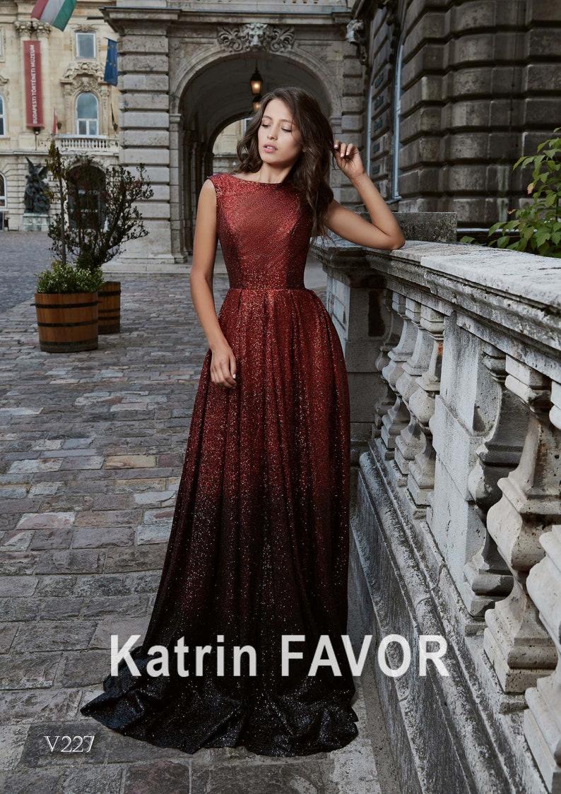 Ombre Evening Gown Sequin Dress Formal Dress Plus Size Maxi image 0