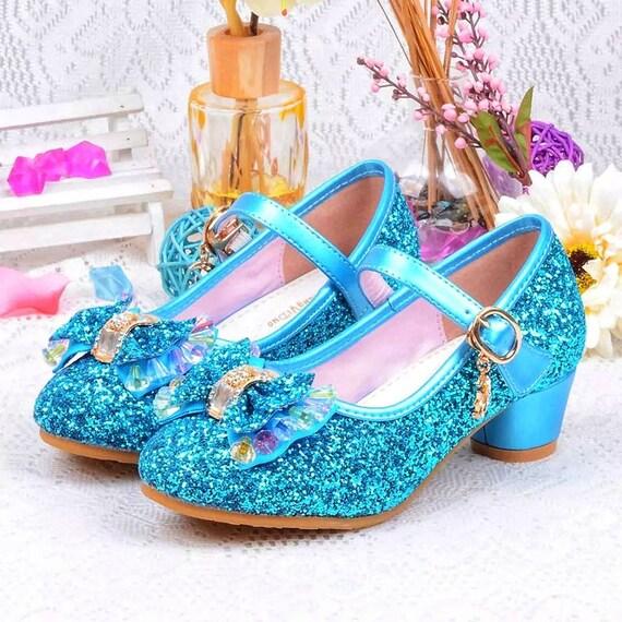 Blue Glitter Toddler Girls Maryjane