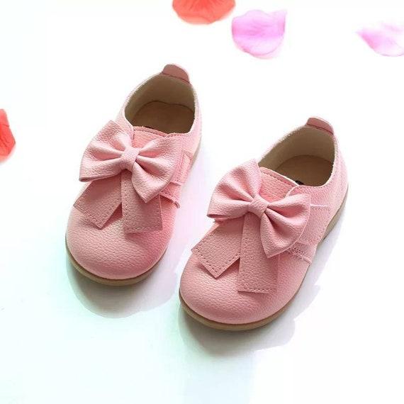 Pink Toddler Girls Kids Dress Shoes
