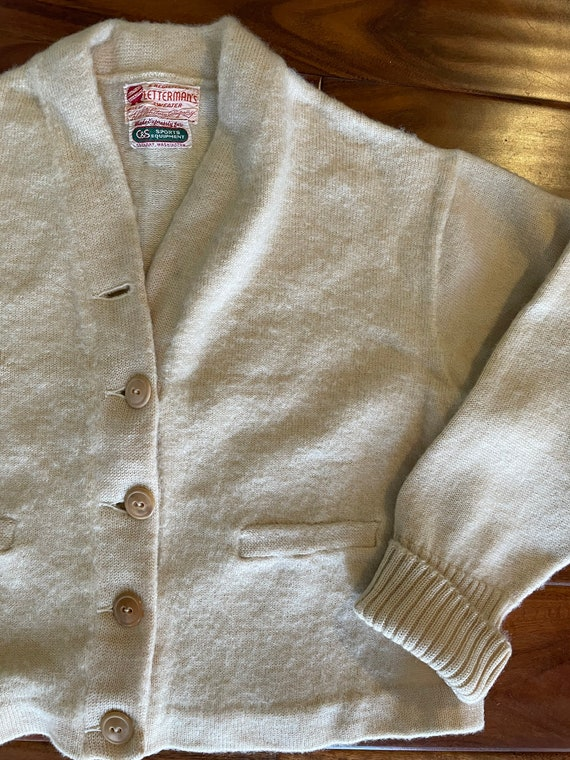 Beige Varsity Sweater by HL Whiting Co