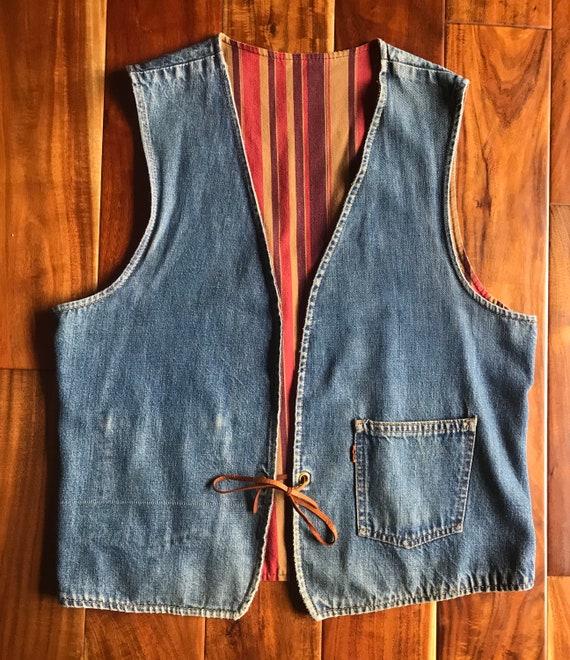 Levis Big E Orange Tab Vest, 1970s