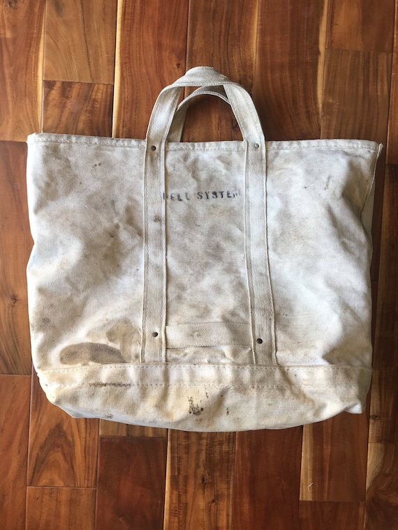 Bell System Riveted Canvas Tote Bag