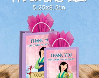 Mulan favor bags - gift bags - candy bags - 12pack