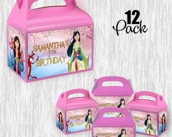 Mulan Small Gable box - treat box - 4.5x3in - 12pack