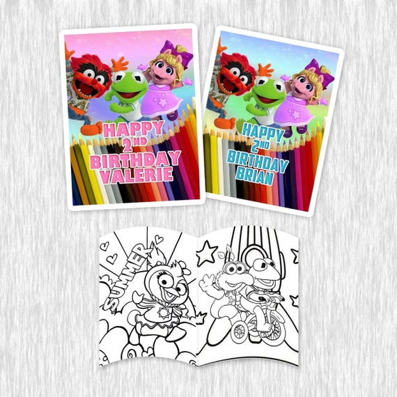 Muppet Babies Coloring Books For Party Favors 8pack Etsy