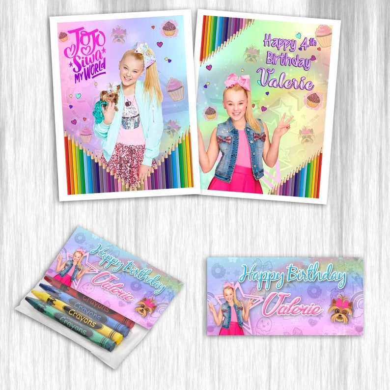 Jojo Siwa Coloring Books With Crayons For Party Favors Etsy