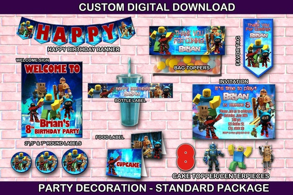 Roblox Packages Download - Roblox Party Package Decoration Digital Download You Print